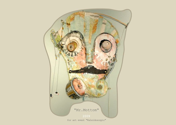 """Animated Mask for perfromance """"Mr. Mottom"""""""