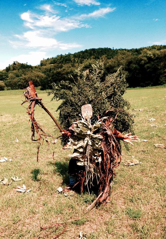 シゲちゃんランド原人祭のための仮面と衣装 Mask and Costume for primitive man festival at Shigechan-land