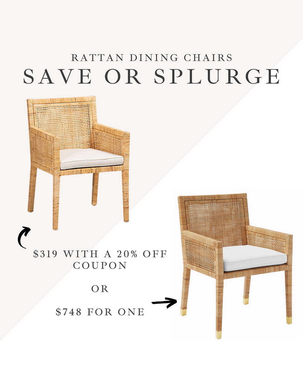 Serena and Lily Balboa dining room chair Dupes
