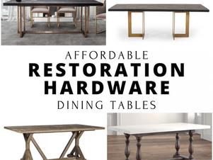 Restoration Hardware Inspired Dining Furniture
