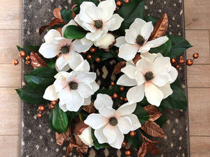 DIY Magnolia & Copper Fall Wreath