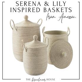 Serena & Lily La Jolla Basket dupes. Great for playroom storage, kid's bedroom decor, Boy nursery decor, girl nursery decor