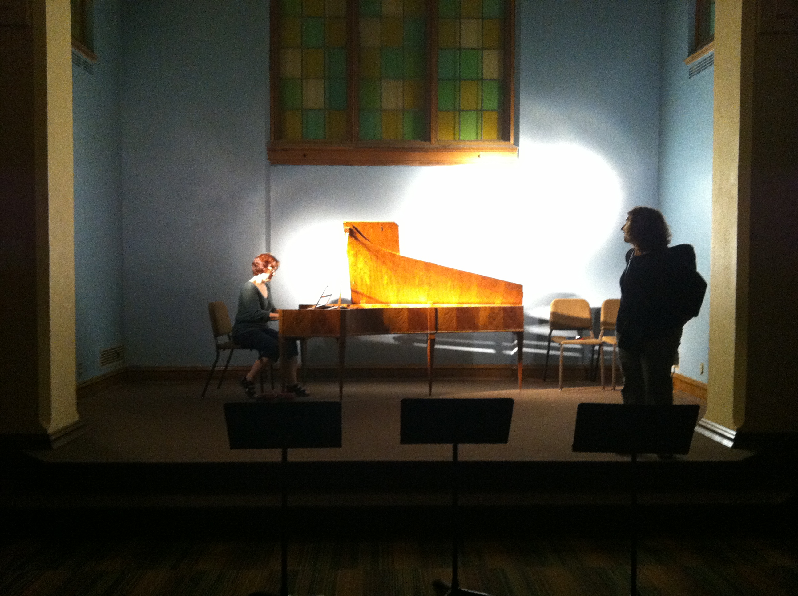 Mary Burke at the fortepiano