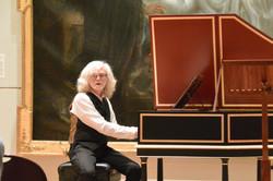 Bob Baumann at his new harpsichord
