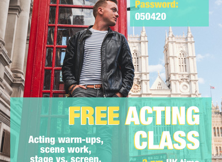 Free Online Acting Lessons #stayhome