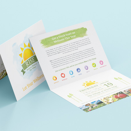 The Village at Woods Edge Wellness Program Direct Mail