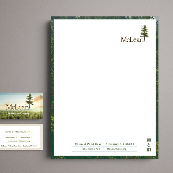 McLean Letterhead and Business Card Design