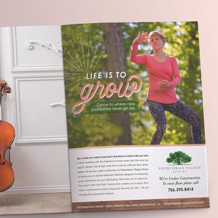 Presbyterian Village Athens Print Ad: Life is to Grow