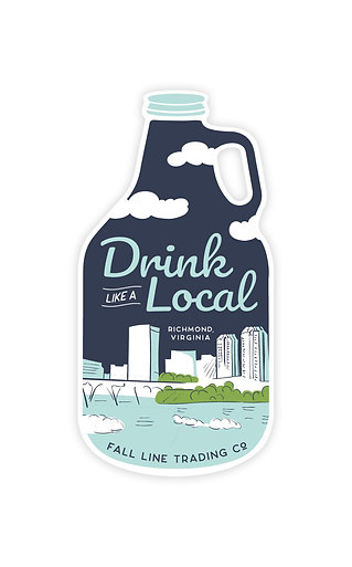 Drink Like a Local Sticker