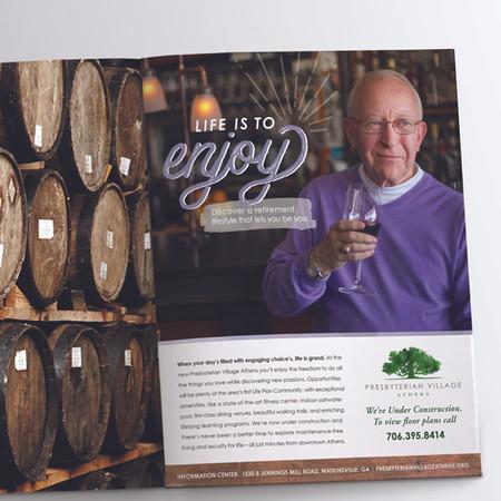 Presbyterian Village Athens Print Ad: Life is to Enjoy