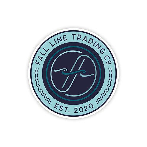 Fall Line Logo Sticker