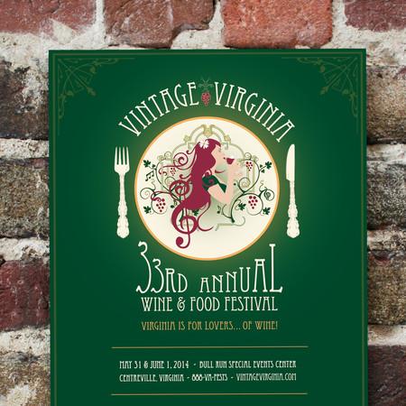 Vintage Virginia Wine Festival Poster Design