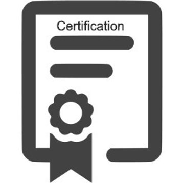 Replacement Laminated Certification Card