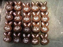Facebook - The bunnies are coming!!!  Chocolate bunnies filled with salted caram