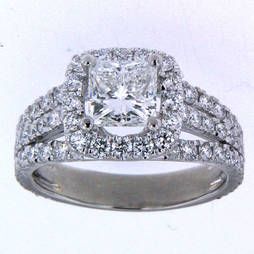 18K White Gold Princess Cut Ring