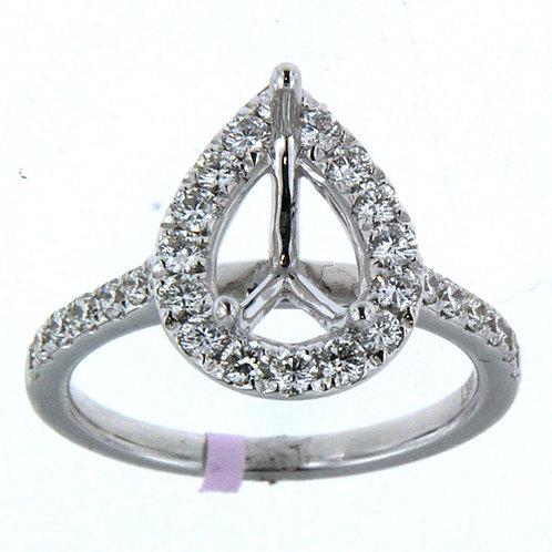 Pear Shape Halo Diamond Setting