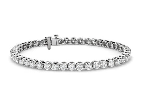 7CTTW DIAMOND BRACELET 14K WHITE GOLD 7 INCHES