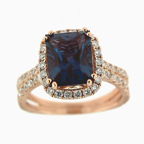 14K Rose Gold Alexandrite Ring