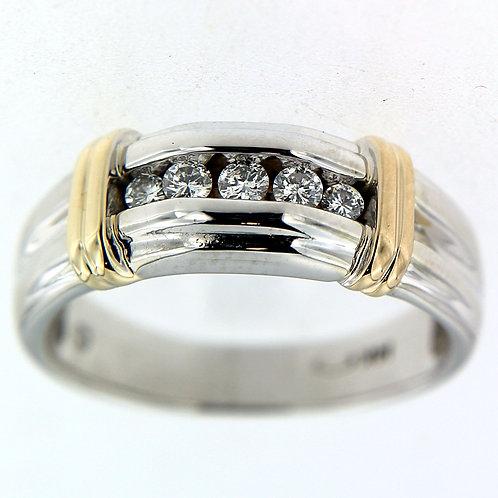 Two Tone Men's Designer Ring