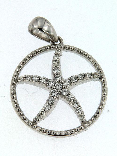 Starfish Circle Pendant