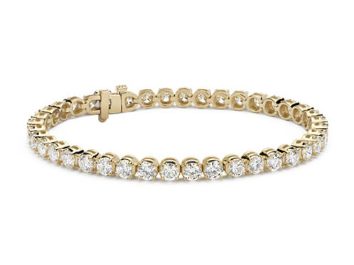 10CTTW DIAMOND BRACELET 14K YELLOW GOLD 7 INCHES