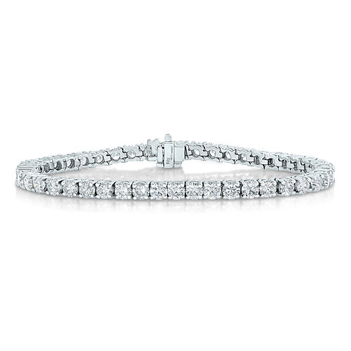 5CTTW DIAMOND BRACELET 14K WHITE GOLD 7 INCHES