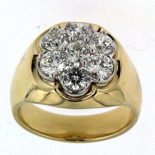 Men's Diamond Cluster Ring