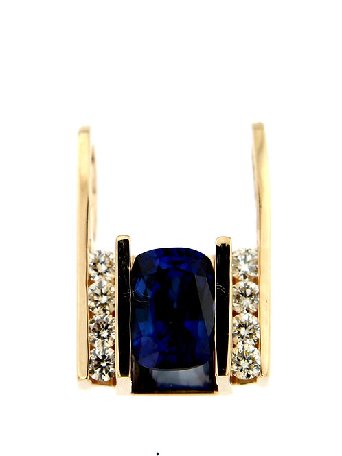 Sapphire Pendant in Yellow Gold