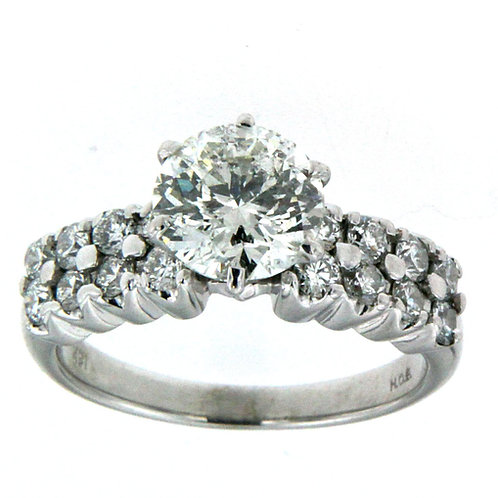 14K White Gold Round Brilliant Cut Ring