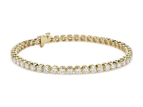 5CTTW DIAMOND BRACELET 14K YELLOW GOLD 7 INCHES