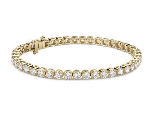 7CTTW DIAMOND BRACELET 14K YELLOW GOLD 7 INCHES