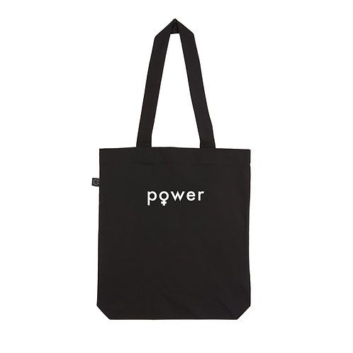 POWER BLACK TOTE