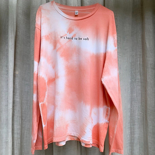 HARD TO BE SOFT T - CORAL - L