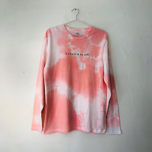 PEACH TIE DYE - HARD TO BE SOFT T - S
