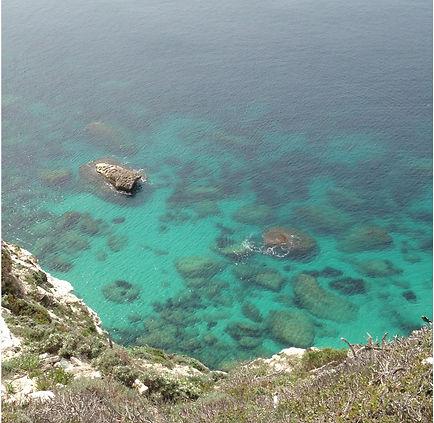 Méditerranée vue des falaises de Bonifacio