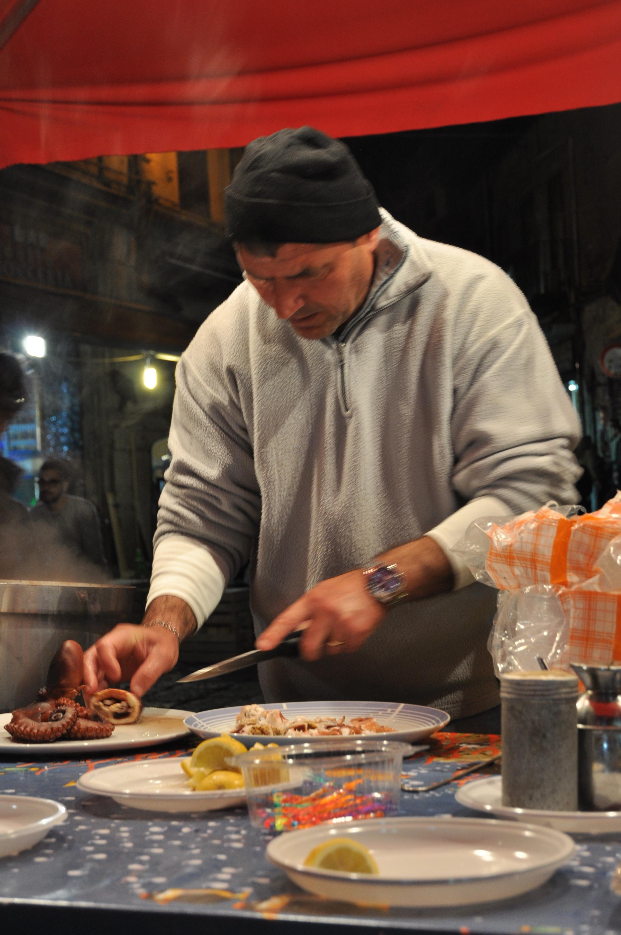 Palerme, marché du soir, Vucciria