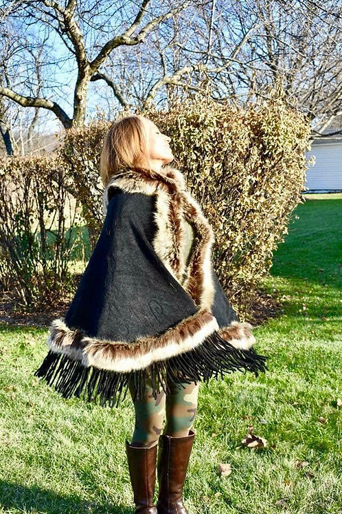 Gorgeous Hooded faux fur ponchos!