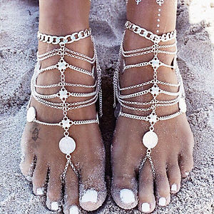 anklets, ankle jewelry, body jewelry, bohemian anklets, gypsy anklets