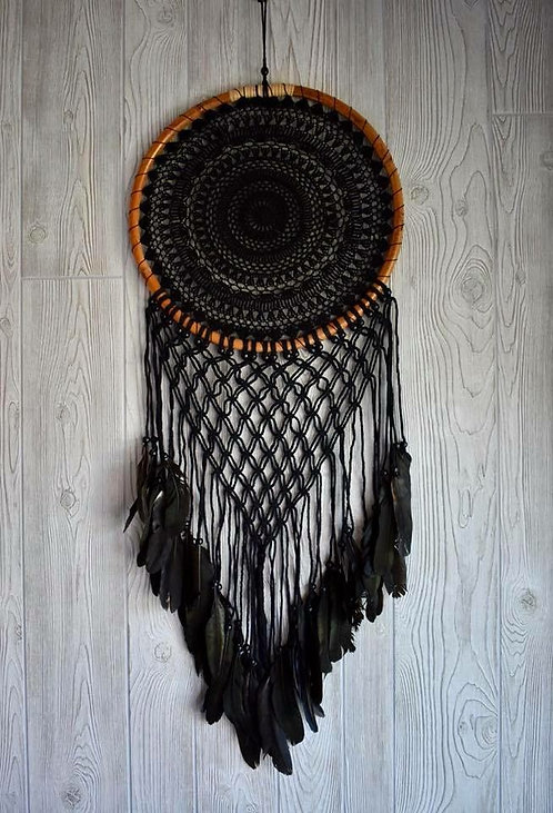 Beautiful Black Macrame Dream Weaver