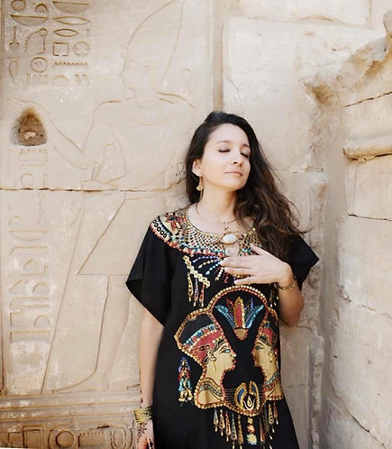 Egyptian Kaftans with sequence decorations