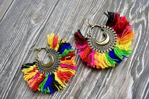 Beautiful Large Goddess Earrings