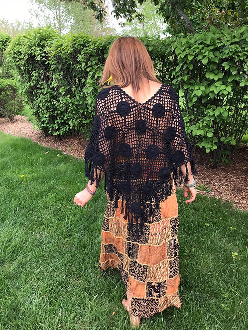 New Hippie Crochet Ponchos