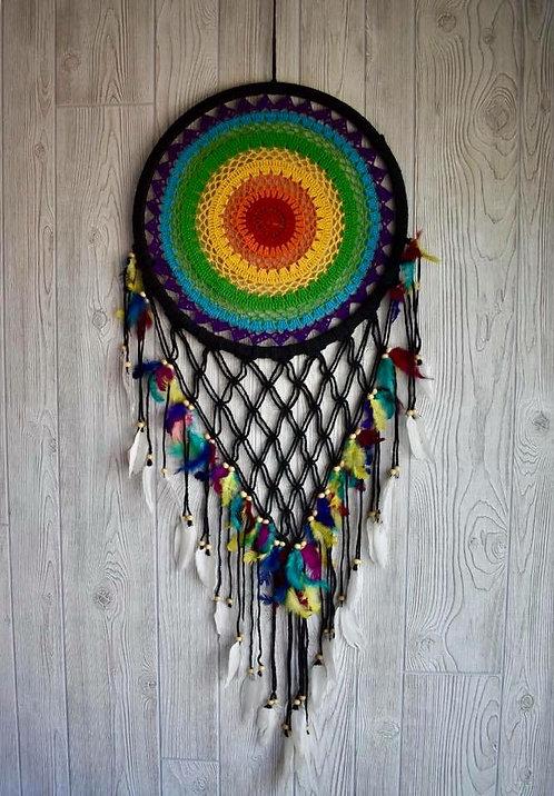 Beautiful Rainbow Macrame Dream Weaver