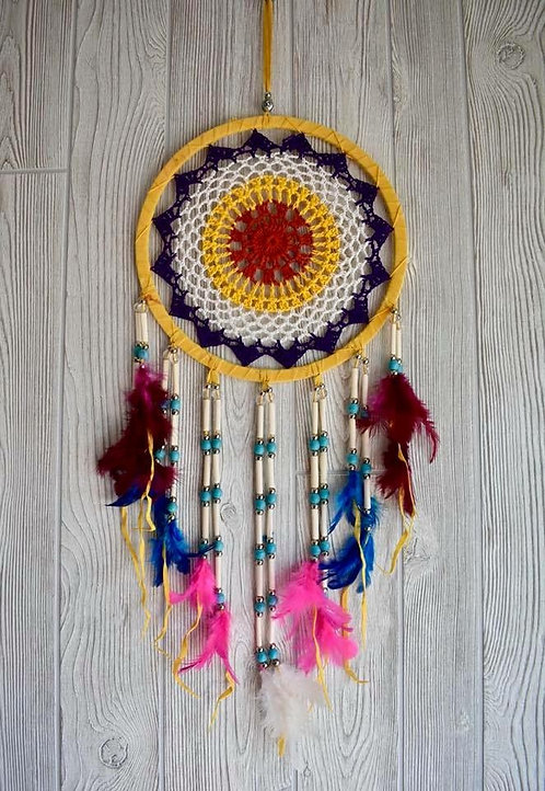 Colorful Beaded Dream Weaver