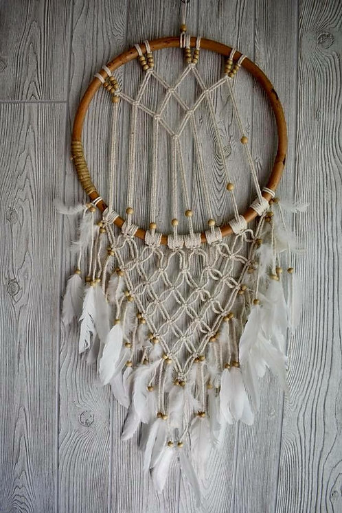 Beautiful Wooden Macrame Dream Weaver