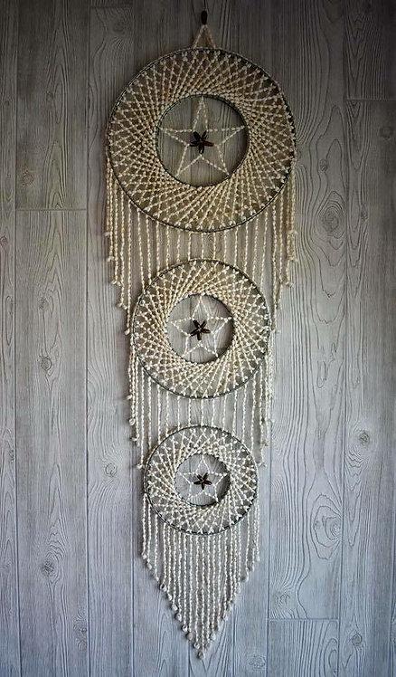 Beautiful Triple Star Seashell Dream Weaver