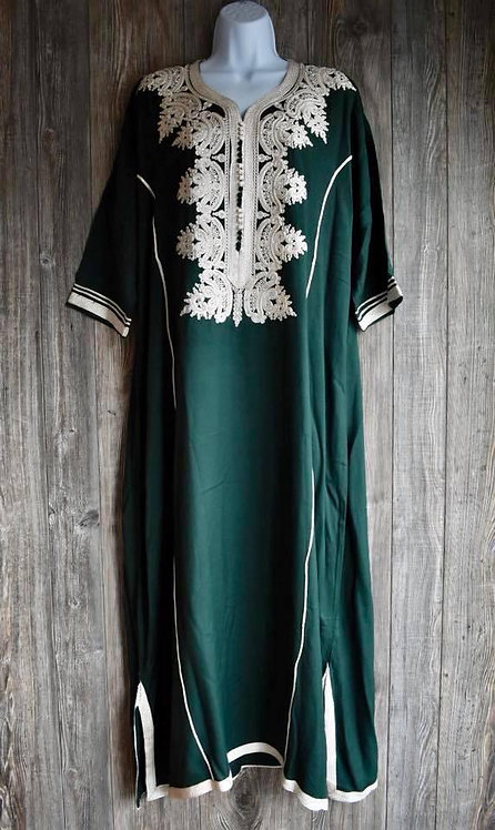 Moroccan Kaftan with beads and sequence decorations.