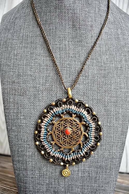 Sacred Geometry Healing Crystal Necklace