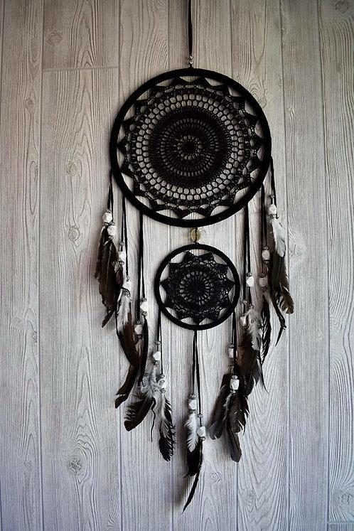 Gorgeous Black Beaded Crochet Dream Weaver