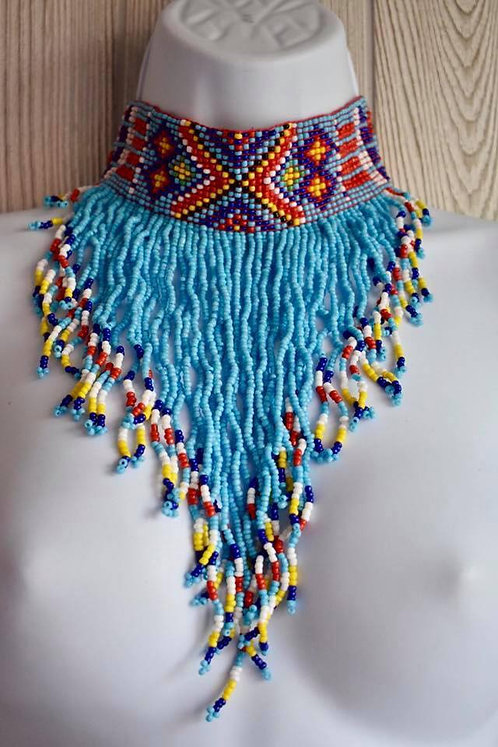 Ethnic Tribal Colorful Beaded Necklace